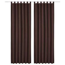 Souarts Kaffeebraun Blickdicht Gardine Vorhänge Schlaufenschal für Wohnzimmer Schlafzimmer Studierzimmer 140x145cm(BxH) Nur eine Schal