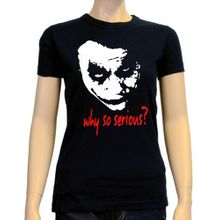 Coole-Fun-T-Shirts Damen T-Shirt Why So Serious ? Joker, Schwarz, S, 10877