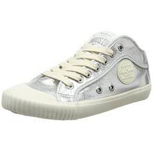 Pepe Jeans London Damen Industry Met Sneaker, Silber (Silver), 39 EU