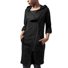 Urban Classics Damen Jacke Ladies Imitation Suede Parka, Schwarz (Black 7), 36 (Herstellergröße: S)