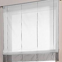 Souarts Grau Gardine Raffgardinen Vorhang Raffrollo Schlaufenschal Deko für Wohnzimmer Schlafzimmer Studierzimmer 120*155cm