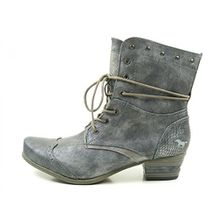 Mustang 1187-517 Schuhe Damen Stiefeletten Ankle Boots , Schuhgröße:39;Farbe:Blau
