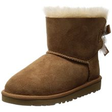 UGG Unisex-Kinder Mini Bailey Bow Kurzschaft Stiefel, Braun (Chestnut), 36 EU