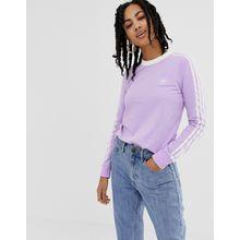 adidas Originals - adicolor - Langärmliges Shirt in Violett mit drei Streifen - Violett