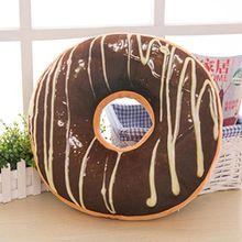 Donut Kissen Fall, wanshop® Soft Plüsch Kissen gefüllt Sitz Pad Sweet Donut Foods Sofa Kissenbezug Fall Toys 40cm x 40cm x 12cm a