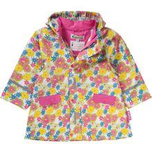 PLAYSHOES Regenmantel 'BLUMEN' gelb / hellgrün / pink / weiß