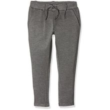 NAME IT Mädchen Hose Nitida Pant Nmt Noos, Grau (Dark Grey Melange), 146