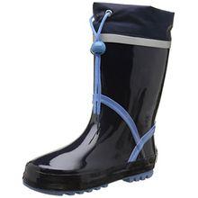 Playshoes Gummistiefel Basic 184307, Mädchen Gummistiefel, Blau (marine/bleu 639), EU 22/23