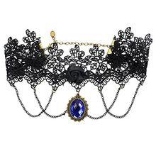 Damen Necklace Gothic Halsband Schmuck Vintage Retro barock Halschmuck Halskette (1)