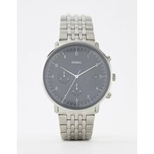Fossil - FS5489 Chase - Silberne Armbanduhr, 42 mm - Silber