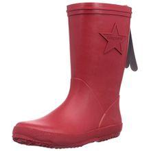 Bisgaard Unisex-Kinder Rubber Boot Star Gummistiefel, Rot (10 Red), 34 EU