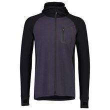 Mons Royale - Traverse Midi Full Zip Hood - Merinopullover Gr L;M;S;XL schwarz/blau;schwarz