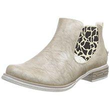 Rieker M2480, Damen Chelsea Boots, Silber (platin/weiss/90), 38 EU (5 Damen UK)