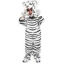 Kostüm weißer Tiger, 4-tlg.