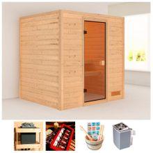 KARIBU Sauna »Wangerooge«, 196x170x187 cm, 9 kW Ofen mit int. Steuerung