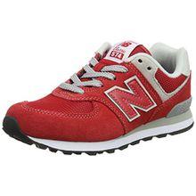 New Balance Pc574v1, Unisex-Kinder Sneaker, Rot (Red/Grey), 35 EU (2.5 UK)