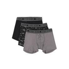 SCHIESSER Shorts grau / schwarz