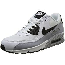 Nike Damen Air Max 90 Essential Sneakers, Weiß (White/Black-Wolf Grey), 42 EU