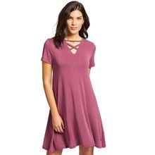 khujo Kleid HONEY Jerseykleider rosa Damen