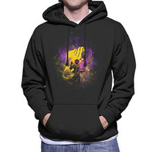 Fairy Tail Natsu Dragneel Silhouette Men's Hooded Sweatshirt