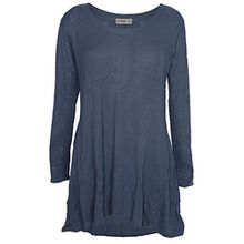 Sheego Ajourpullover Pullover Damen Langarm Plusgröße Viskose, Farbe:blau;Damengrößen:48