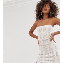 Missguided Tall - Trägerloses Kleid mit Schlangenmuster und Schlitz - Mehrfarbig