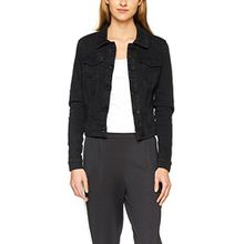 Noisy may Damen Jeansjacke Nmdebra L/S Black Wash Denim Jacket Noos, Schwarz (Black Black), 34 (Herstellergröße: XS)