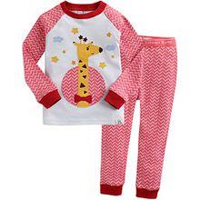 Vaenait Baby Kinder Maedchen Nachtwaesche Schlafanzug-Top Bottom 2 Stueck Set Dream Giraffe M