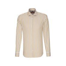 SEIDENSTICKER Hemd braun / weiß