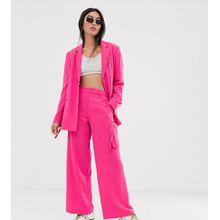 COLLUSION – Körpernahe Hose mit Taschen und weiten Beinen-Rosa