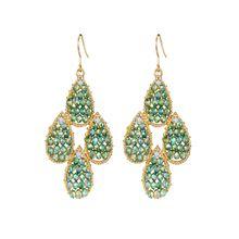 Mishumo Ohrhänger in grün für Damen