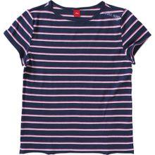 S.Oliver Junior Shirt dunkelblau / pink / weiß