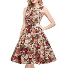 IHOT Elegant Damen 1950er Retro Vintage Floral Party Cocktailkleider Abendkleider Sommerkleid Knielang