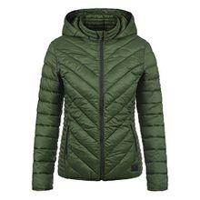 Blend She Sienna Damen Steppjacke Übergangsjacke Jacke Mit Kapuze, Größe:M, Farbe:Duffle Bag Green (77019)