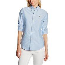 Polo Ralph Lauren Damen Hemd, Gr. X-Small, Blau (BSR Blue B44D4)