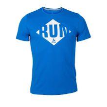 Odlo - Imperium Print Shortsleeve Herren Laufshirt (blau) - M