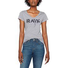 G-STAR RAW Damen T-Shirt Daefera Slim V T Wmn S/S, Grau (Grey HTR 906), X-Small