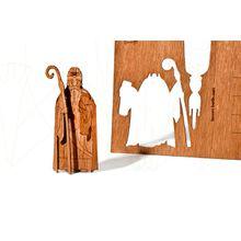 formes Berlin Nikolaus-Karten - 6 Postkarten aus Holz