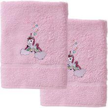 myToys Handtuch 2er Set, je 50 x 100 cm, Einhorn, rosa