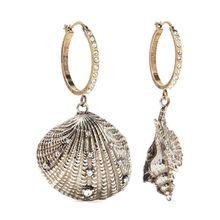 Alexander McQueen - Silber- Und Goldfarbene Creolen Mit Swarovski-kristallen - one size
