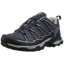 Salomon X Ultra 2 GTX, Damen Trekking- & Wanderhalbschuhe, Blau (Grey Denim/Deep Blue/Melon Bloom), 37 1/3 EU (4.5 Damen UK)