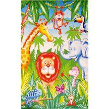 Kinderteppich Lovely Kids, Dschungel Tiere, 100 x 160 cm