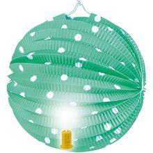 Laterne m. Licht Punkte,grün