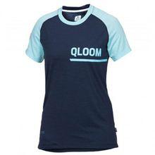 Qloom - Women's Tweedhead Jersey S/S - Funktionsshirt Gr L;M;S;XS blau/schwarz;grau/türkis
