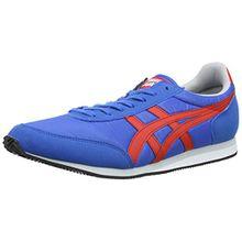 Onitsuka Tiger Sakurada Unisex-Erwachsene Sneaker, Blau (4223-Mid Blue/Fiery Red), 40 EU
