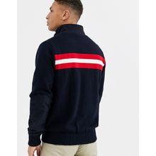 Calvin Klein – Golf – Navigation – Gestricktes Sweatshirt mit Reißverschluss in Marine-Navy