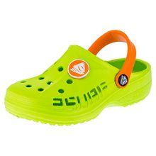 Kinder Clogs Badeschuhe Sandalen für Jungen und Mädchen in Vielen Farben M211gnor Grün Orange 26
