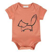 Sanlutoz Baby Bodys Unisex Neugeborene Kleidung Lustiges Onesie 0 3 6 9 Monate Sommer Mädchen Strampler Overall Säugling Jungen (0-6 Monate, R18)
