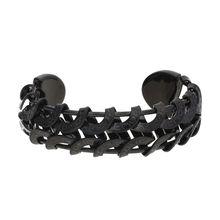 POLICE Armreif CRESCENT in ausgefallener Optik PJ20705BSB-02 Armbänder schwarz Damen