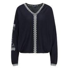 DREIMASTER Bluse ultramarinblau / weiß